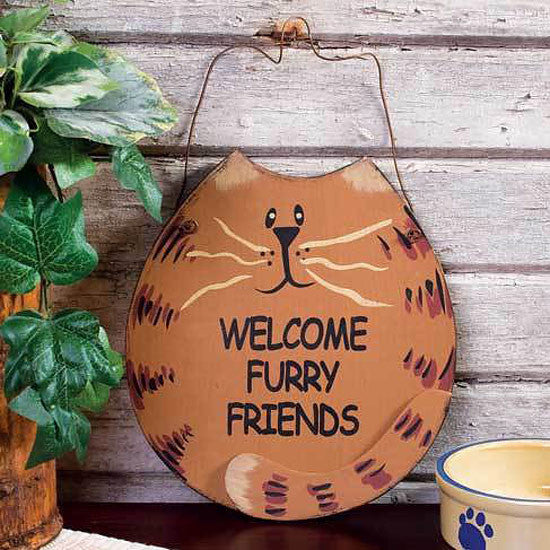 Welcome Furry Friends Sign 33318