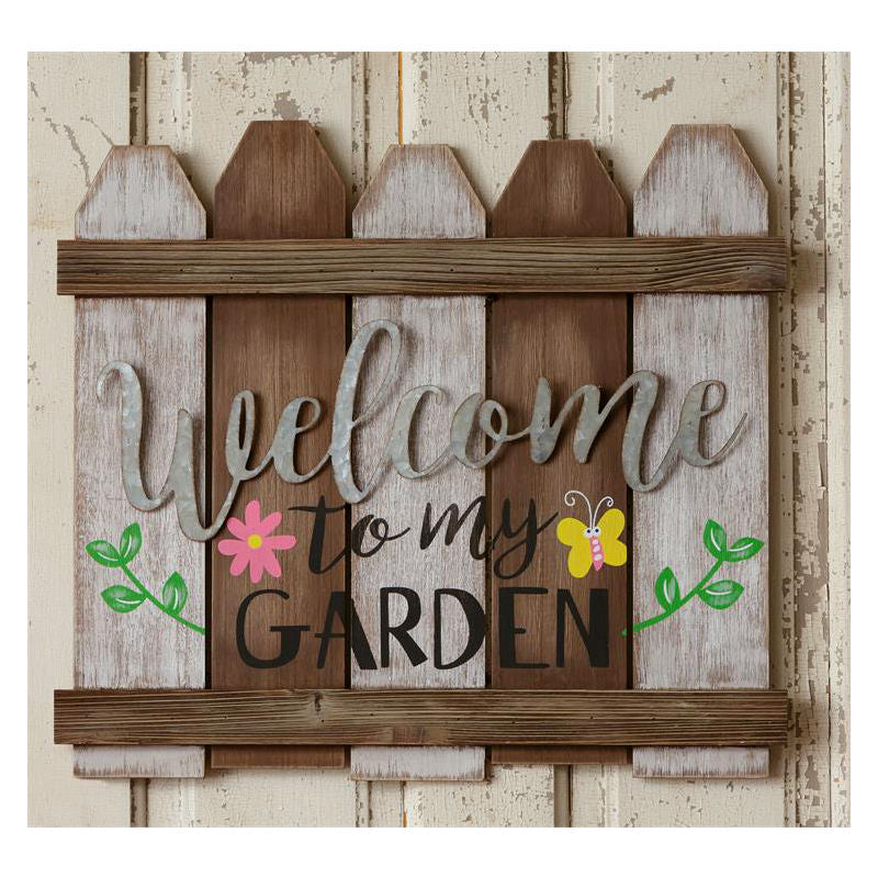 Welcome To My Garden Fence Sign 51GR1608