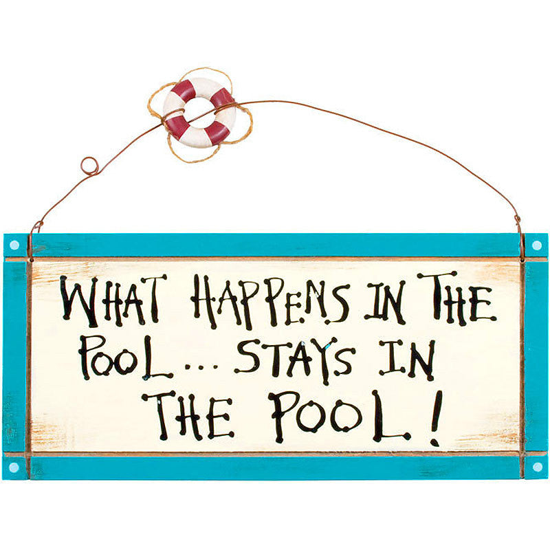 What Happens In The Pool Sign 34063