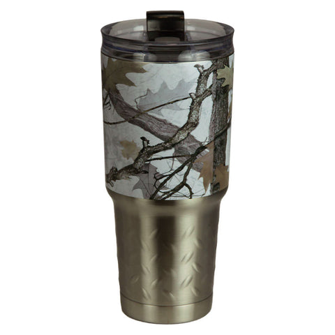 White Camouflage 32 Oz Stainless Steel Tumbler