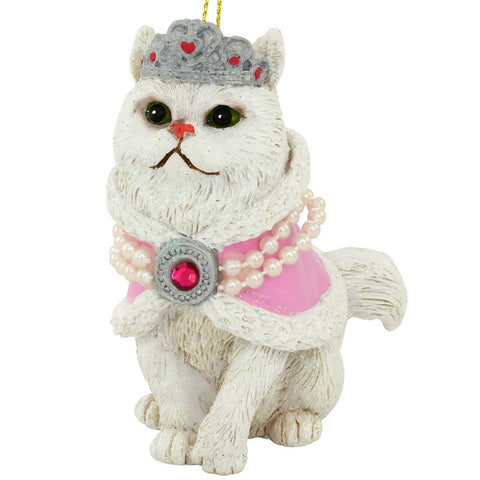 White Persian Cat Ornament