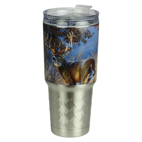 Whitetail Deer 32 Oz Stainless Steel Tumbler