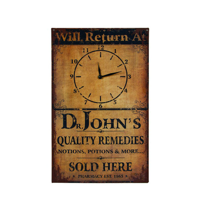 Will Return At Wall Clock Sign 73259