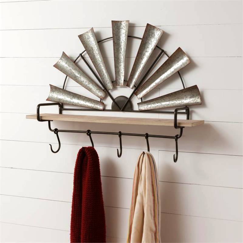 Windmill Shelf With Hooks 8WH667