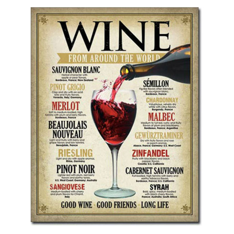Wine Around the World Tin Sign T1941