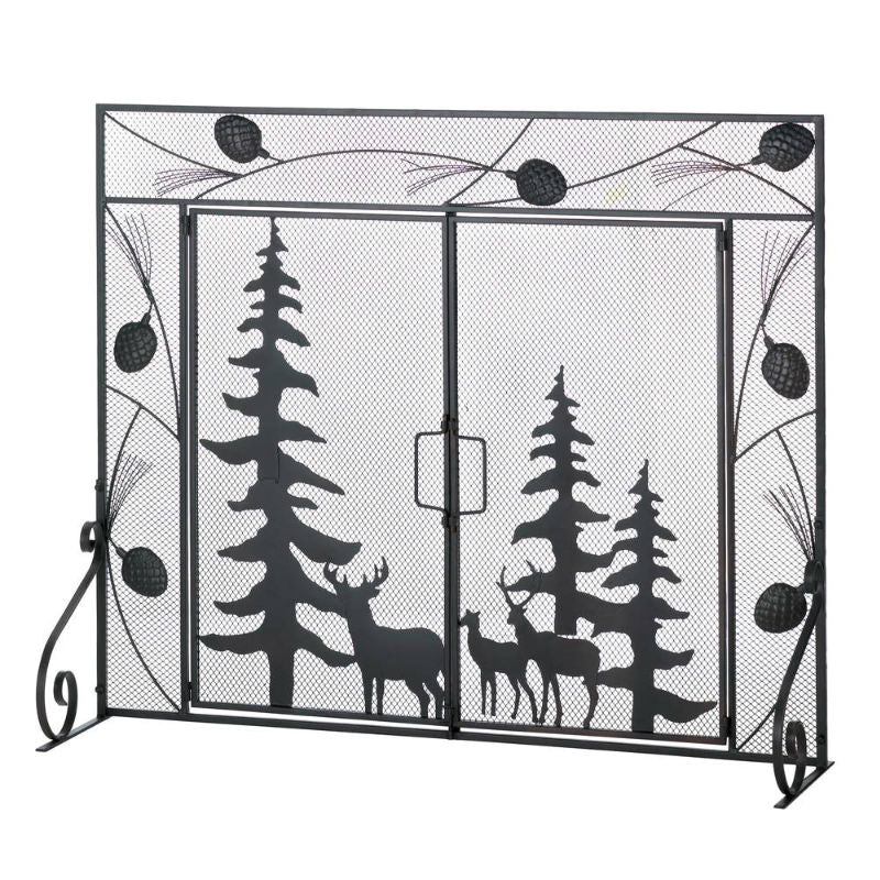 Woodland Forest Fireplace Screen 10016006