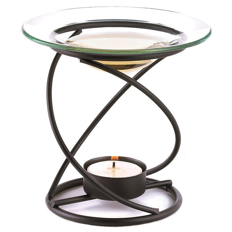 Wrought Iron Spiral Oil Burner 12492