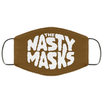 Big Fat Logo Mask- Brown