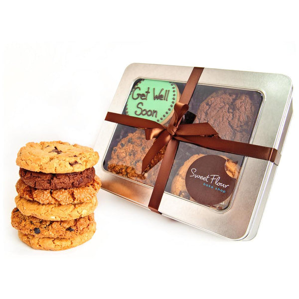 Get Well cookie tin with gourmet signature cookies