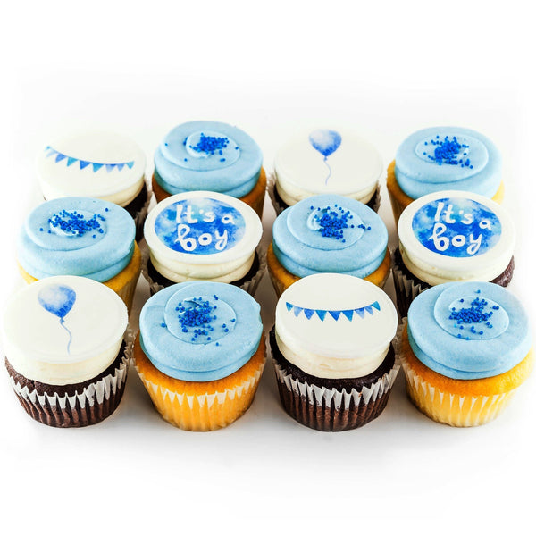 Welcome Baby Boy Cupcakes