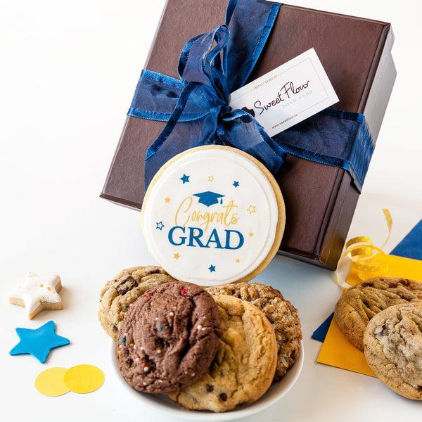 Congrats Grad Cookie Gift Box + Ribbon
