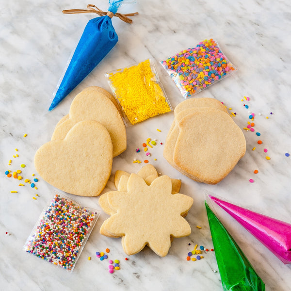 DIY Cookie Decorating Kit with cookies, icing and sprinkles