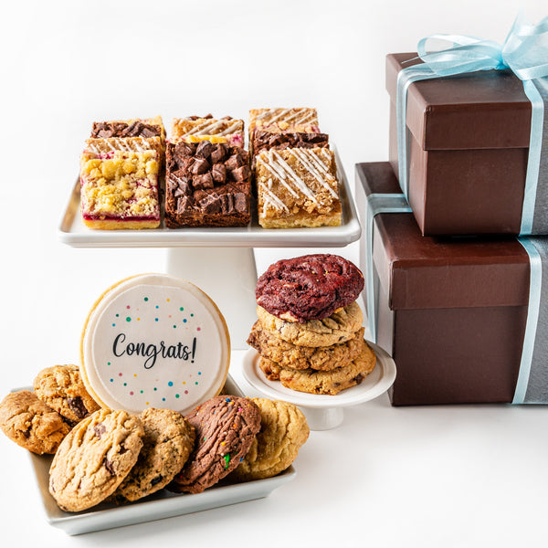 Deluxe Duo Cookie Boxes with Congrats
