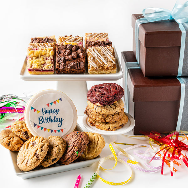Happy Birthday Deluxe Duo Cookie Gift Box