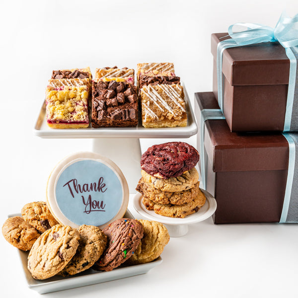 Deluxe Duo Cookie Gift Box with Thank You cookie