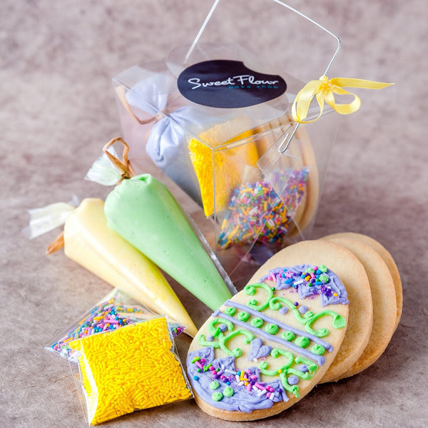 Mini Decorating Kit with Sugar Cookie Easter Eggs