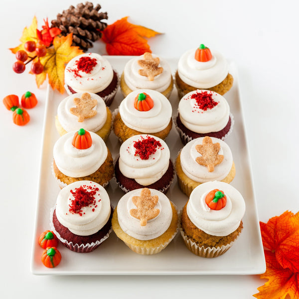 Pumpkin, Apple & Red Velvet Cupcakes