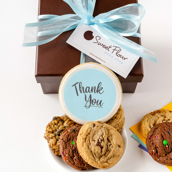Gift Box of Cookies with Thank You cookie