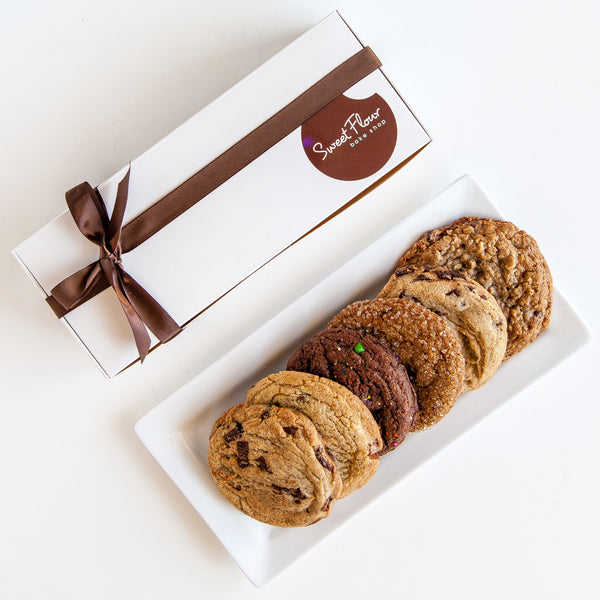Cookie Gift Box of 6 Signature Cookies + Ribbon