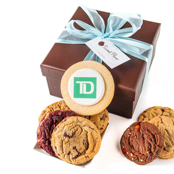Gourmet Cookie Gift Box with TD logo