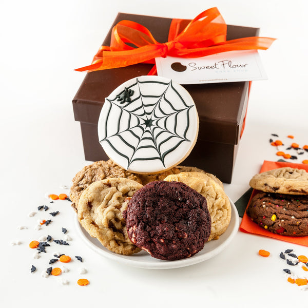 Halloween Cookie Gift Box with Spider Web
