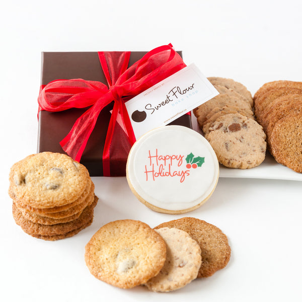 Happy Holidays Cripsy Cookie Gift Box