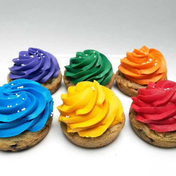 Rainbow Cookie Cupcakes