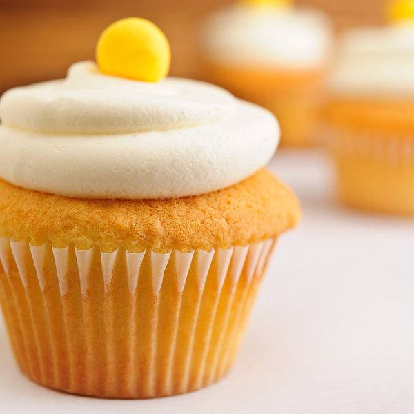 passion fruit cupcakes with buttercream frosting