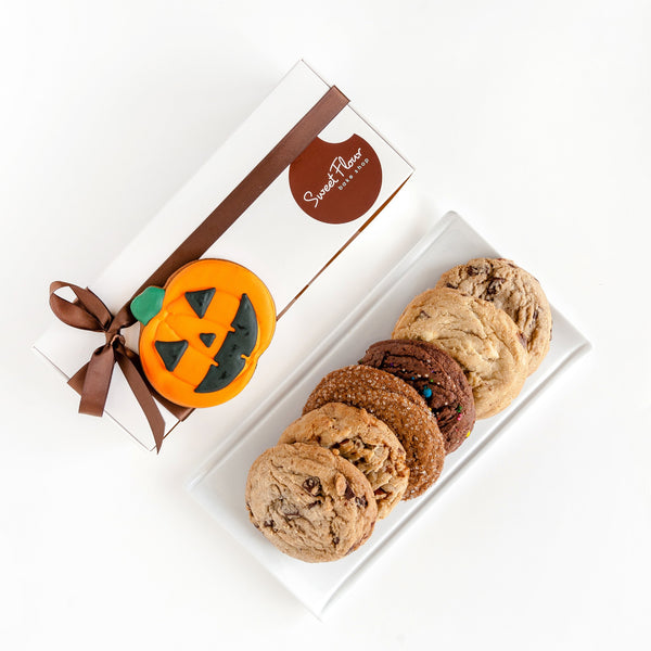 Happy Halloween Cookie Gift Box with Jack-o'-lantern