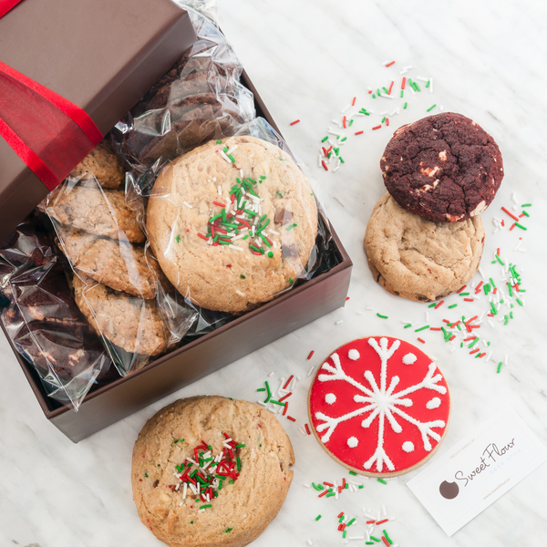 Holiday Sweet Sampler Cookie Gift Box