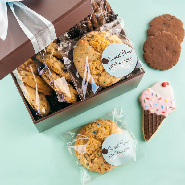 Subscription Cookie Box  filled with gourmet cookies and bars