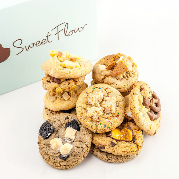 one dozen assorted fully loaded stuffed cookies