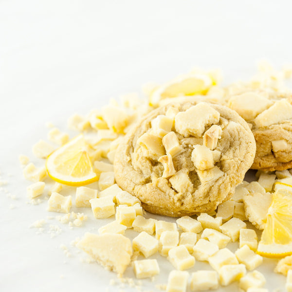 Loaded Lemon fully loaded stuffed cookie with Lemon Shortbread and white chocolate