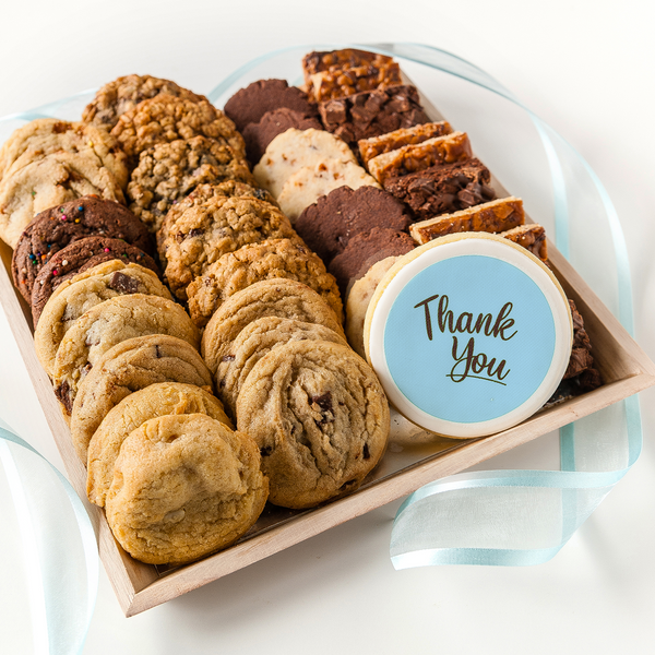 Gourmet Cookie Tray with Thank You cookie
