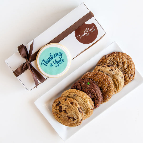 Thinking of You Cookie Gift Box of 6 Signature Cookies + Ribbon