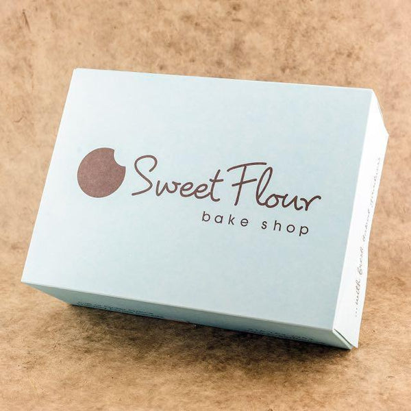 blue Sweet Flour branded cookie gift box