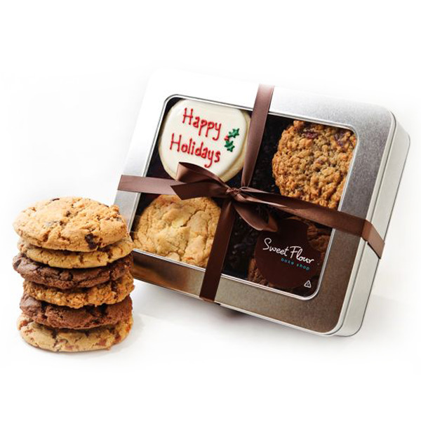Happy Holidays Cookie Tin-Gift Ideas