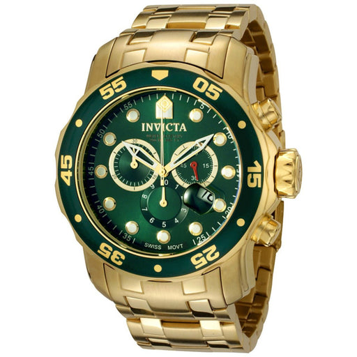 Invicta Men's Pro Diver 0075 Gold Stainless-Steel Plated Swiss Parts Chronograph Diving Watch