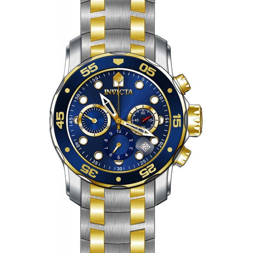 Invicta Men's 0077 Pro Diver Scuba Chronograph Gold-Tone and Silver Stainless Steel Watch