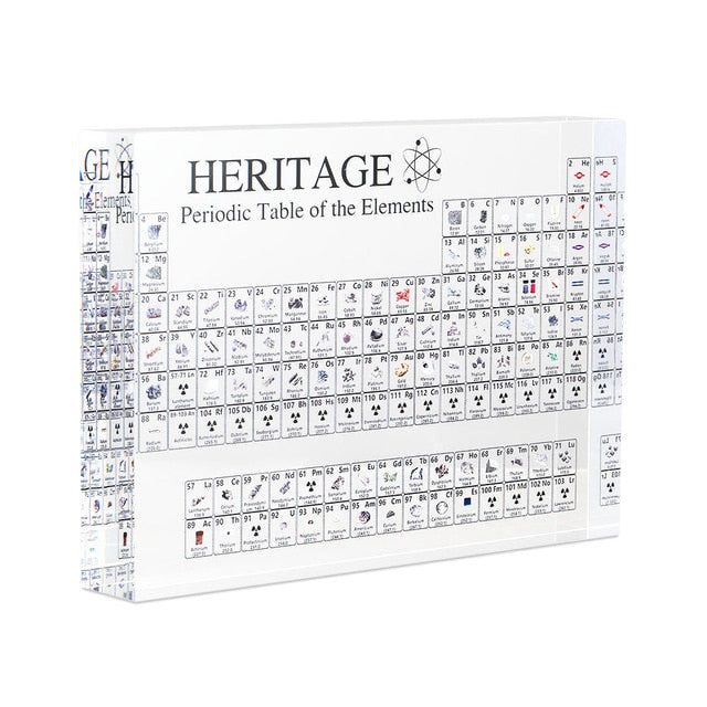Newly Acrylic Periodic Table Display with Elements Teacher Students Gifts Crafts Decor TE889
