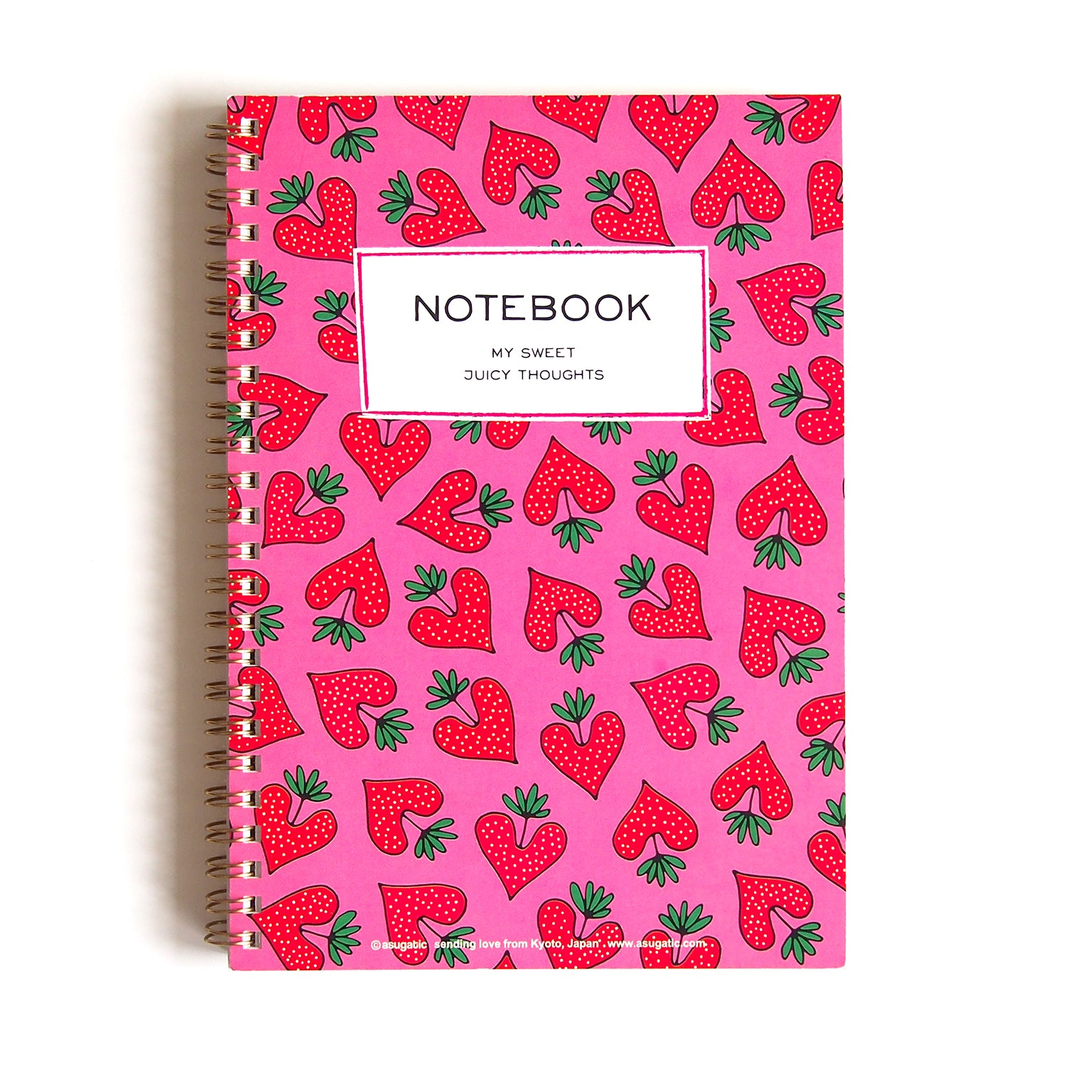 "A5 spiral notebook ""HEARTic strawberry"""