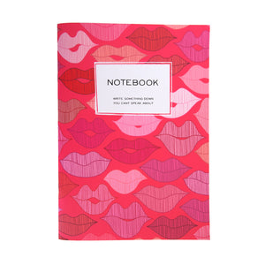 "B5 notebook ""Lips"""