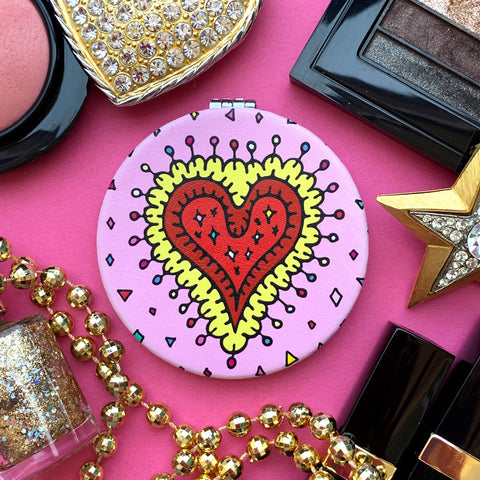 """Sparkling Heart"" mini mirror"