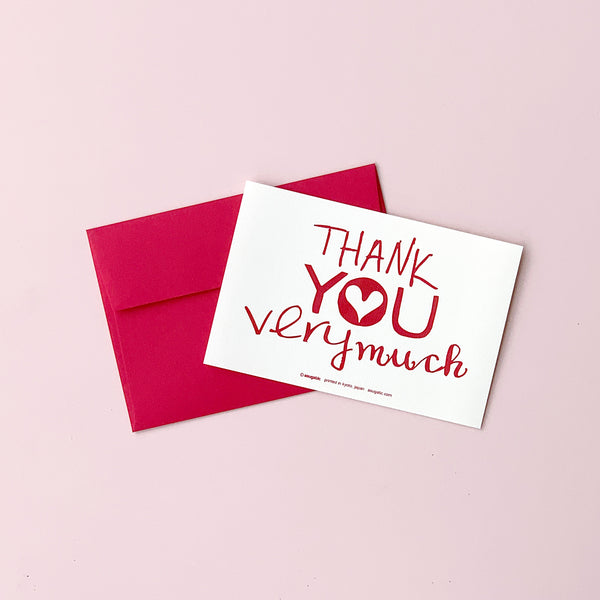 "Greeting Card ""Thank you very much"" _ Ruby Red"