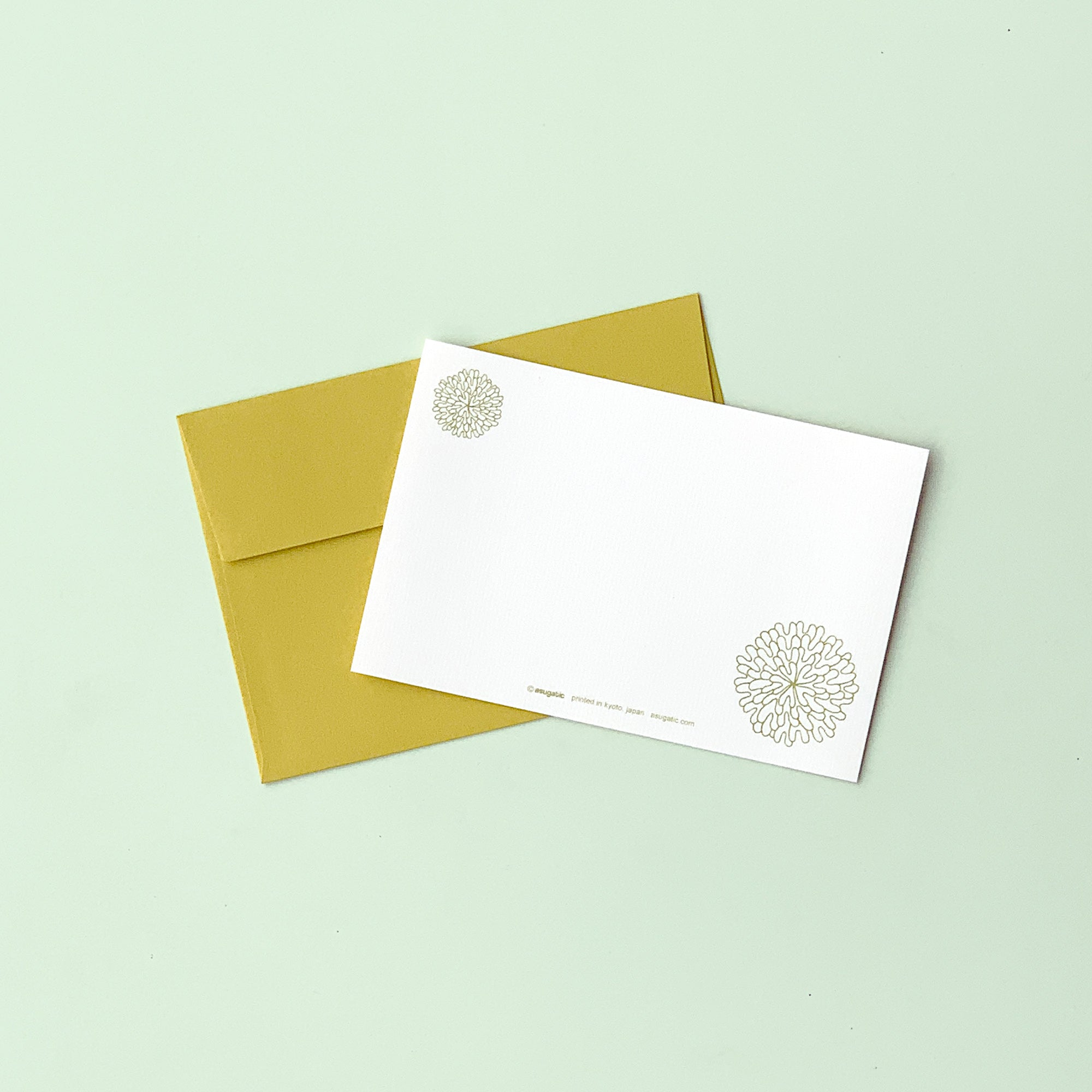 "Greeting Card ""HEARTic SOPHISTICATED flower"" _ Khaki Yellow"