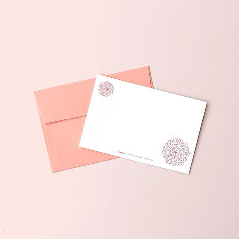 "Greeting Card ""HEARTic SOPHISTICATED flower"" _ Coral Pink"