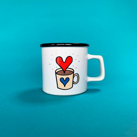 """Drink Love"" mug cup _ Blue"