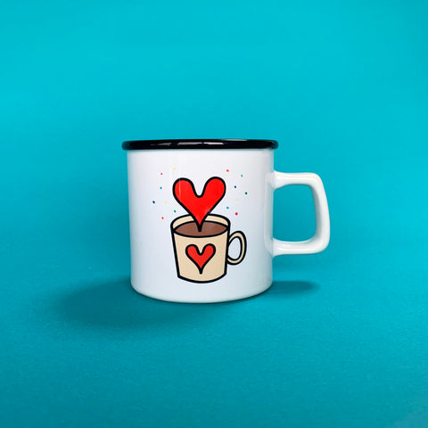 """Drink Love"" mug cup _ Red"