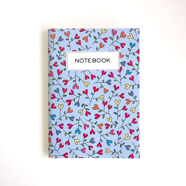 "A5 notebook ""Blooming HEARTic Flowers"""