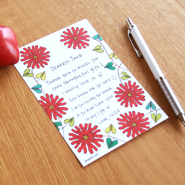 "Notecards ""HEARTic LOVELY flower"""